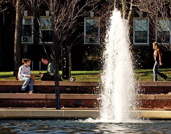 Eat lunch by the fountain (or grab a friend and take a picture)