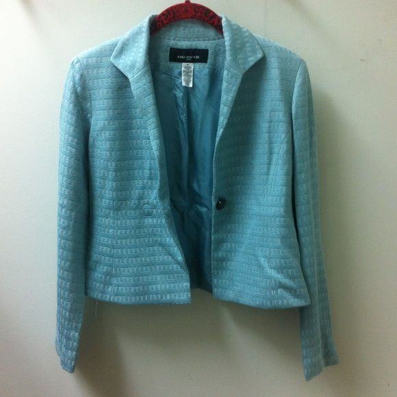Jones New York - Blue Cotton Jacket Excellent condition. I am open to offers and no trades. One stain in the third picture. Jones New York Jackets & Coats
