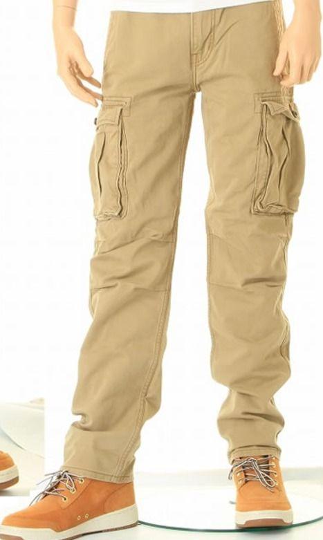 ed2d7ddd58b New Levi's 0010 Straight Leg Relaxed Fit Twill Tan Khaki Ace Cargo Pants 32  X 32 #Levis #Cargo