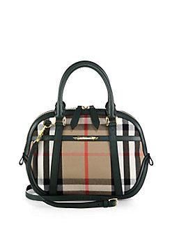 Burberry - Small Plaid Orchard Satchel