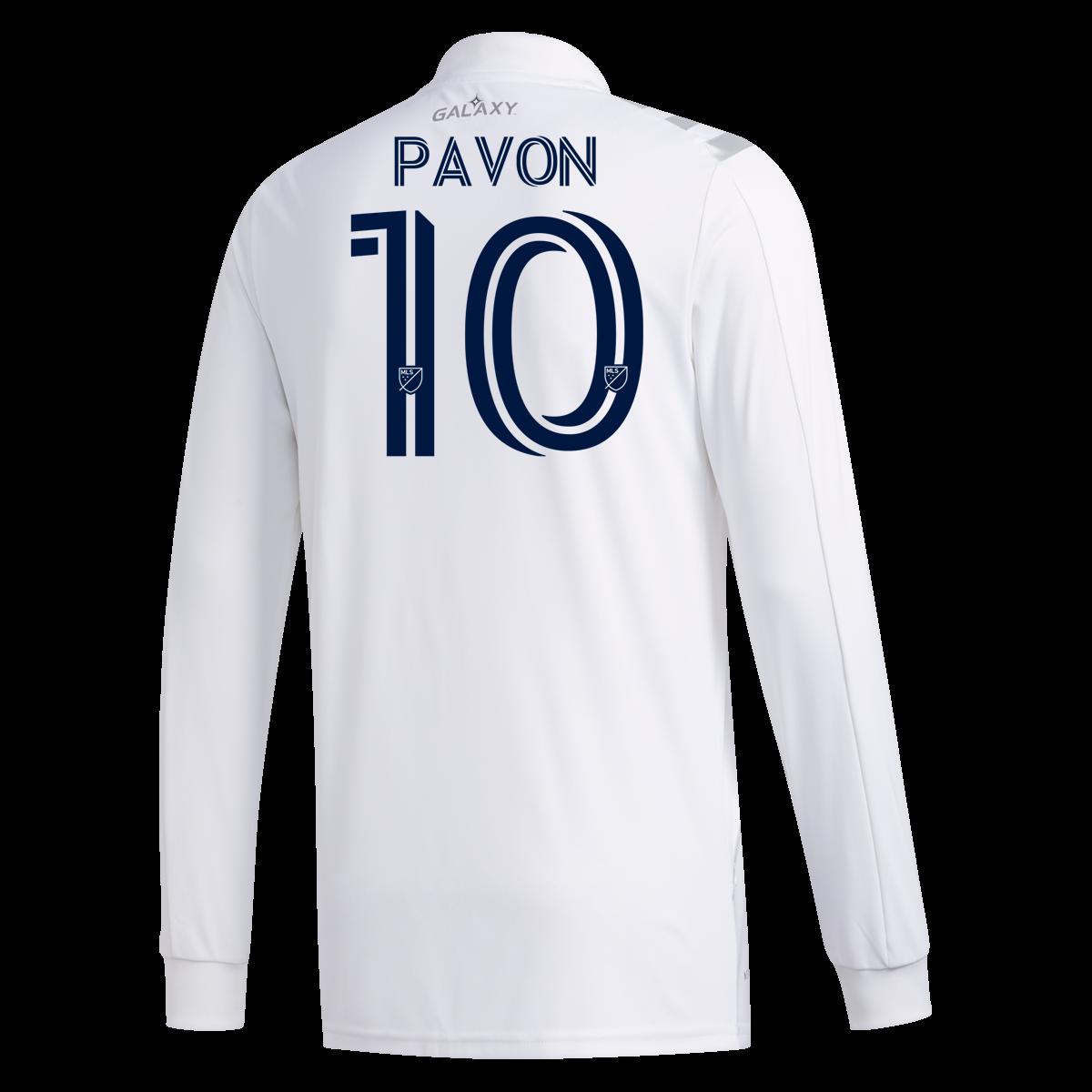 Adidas Cristian Pavon La Galaxy Long Sleeve Home Jersey 2020 S In 2020 Long Sleeve Jersey
