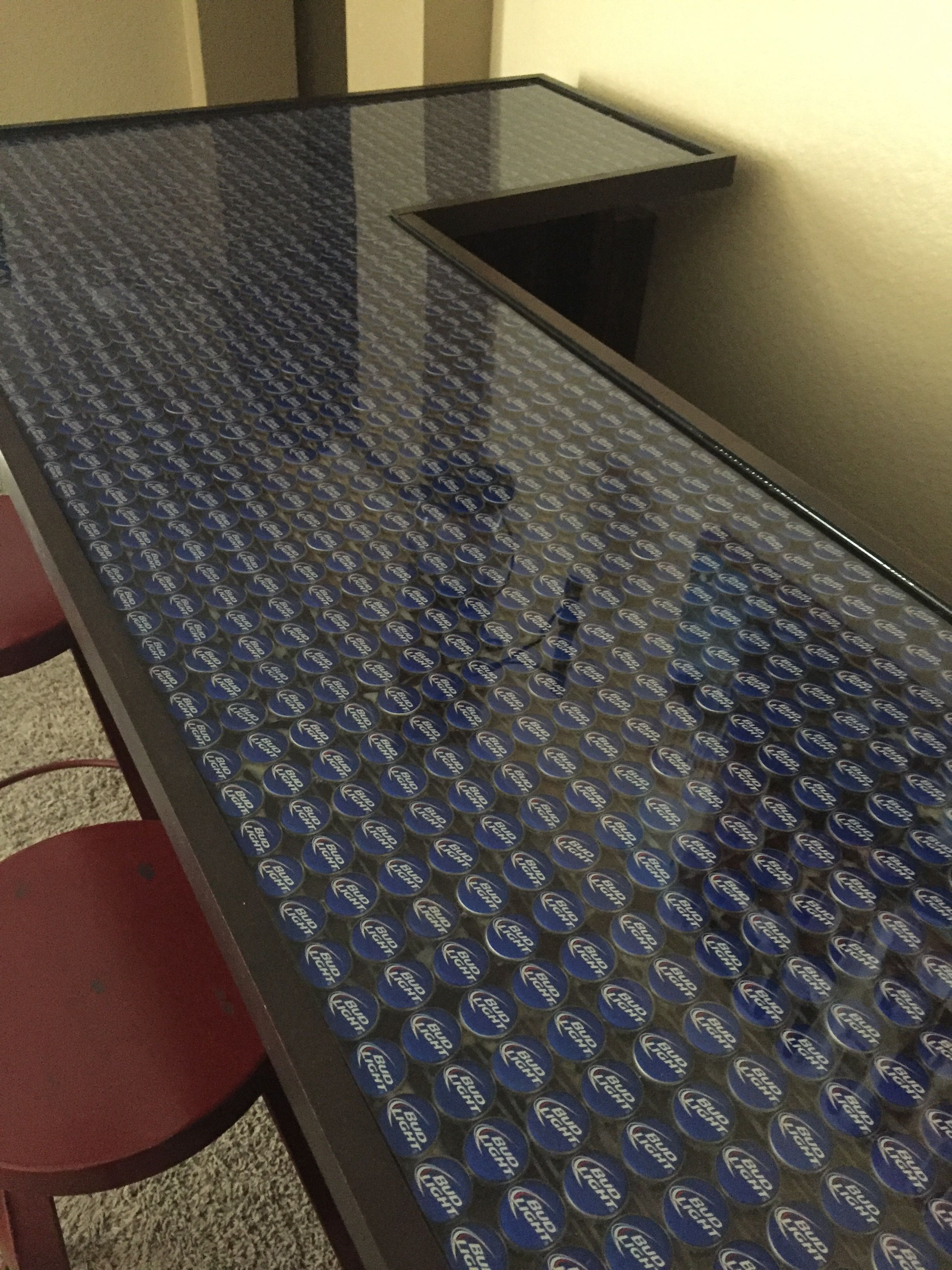 Bud Light Bottle Cap Bar Top Epoxy Projects To