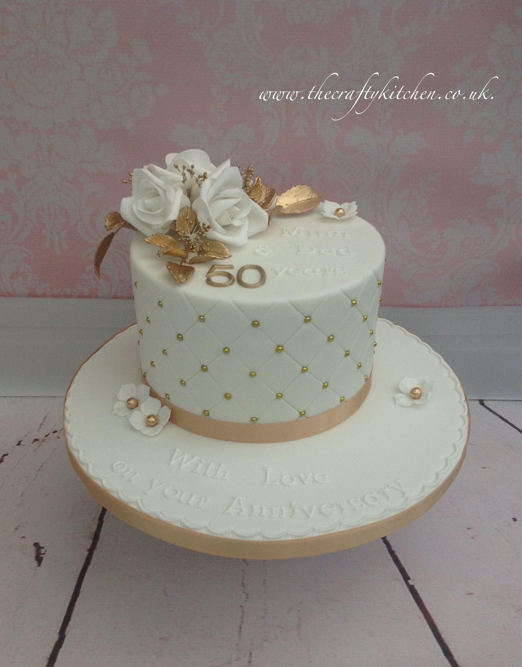 Golden wedding anniversary cake anniversary cakes in