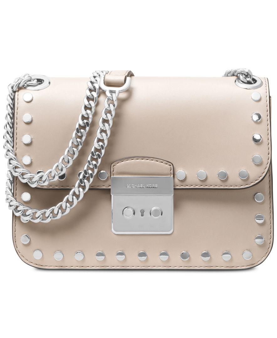 39e8a40bb1bfb Michael Michael Kors Sloan Editor Medium Chain Shoulder Bag Studded Leather