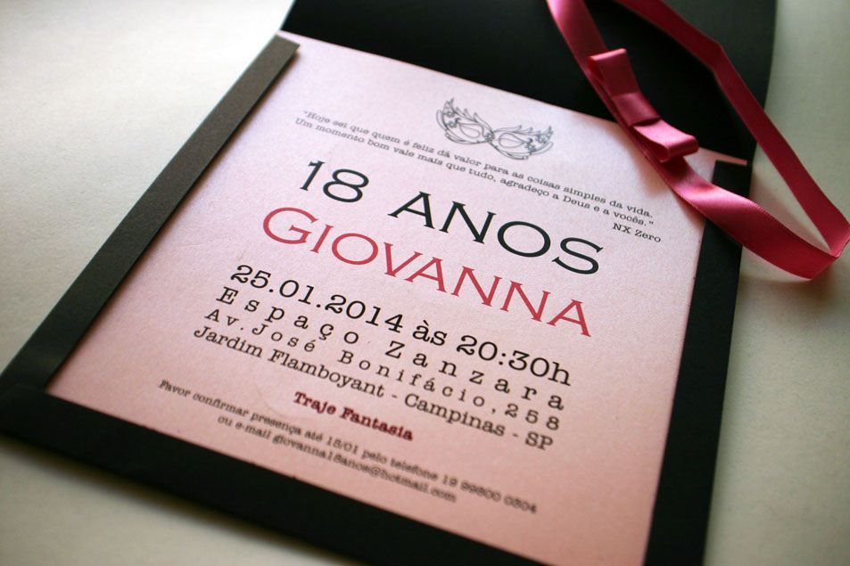 25 Convites De Aniversario 18 Anos Com Imagens Convite Festa A