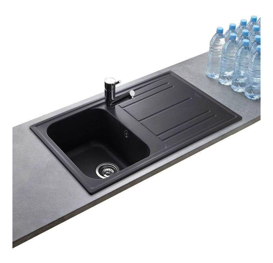 Evier Granit Noir Ewi Holiday 1 Bac 1 Egouttoir Sink Home Decor Decor