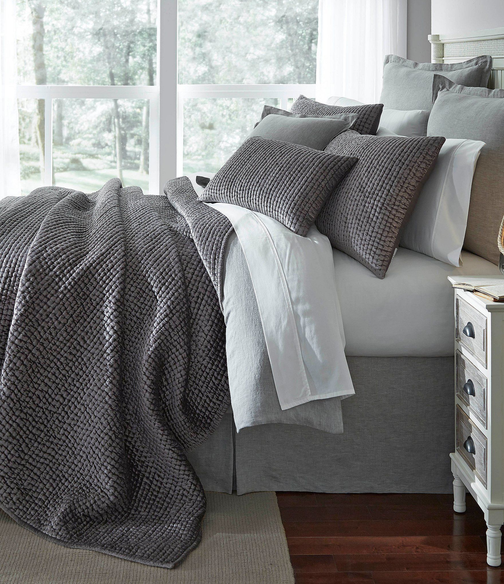shop for southern living camden velvet & satin coverlet mini set