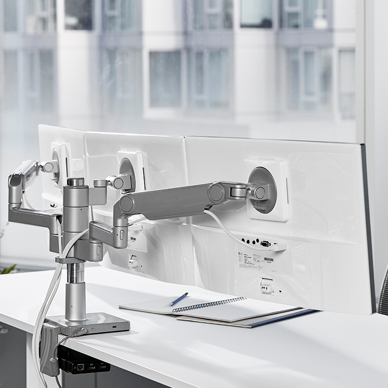 Multi Monitor Arm Support M Flex Humanscale Monitor Arms Innovation Design Installation Manual