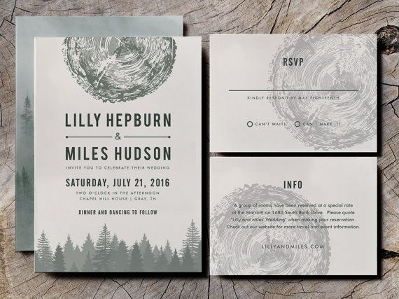 Matching Envelopes Personalised Wedding Invitations Summer Tree D039