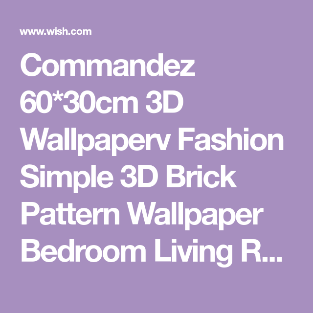 Best 60 30Cm 3D Wallpaperv Fashion Simple 3D Brick Pattern 400 x 300