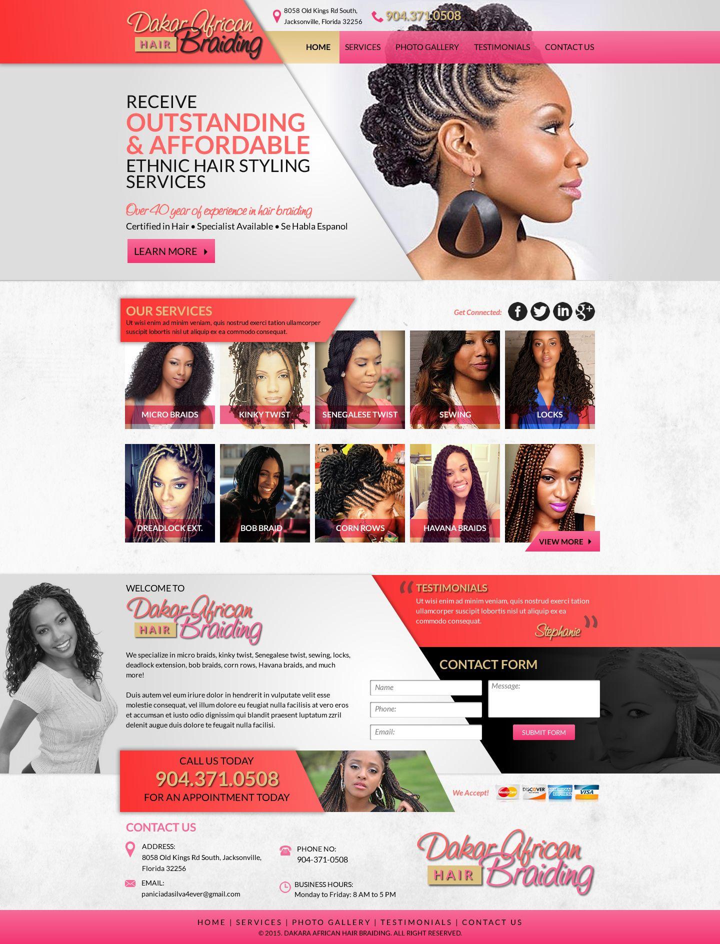 Dakar African Hair Braiding | web designing | African braids ...