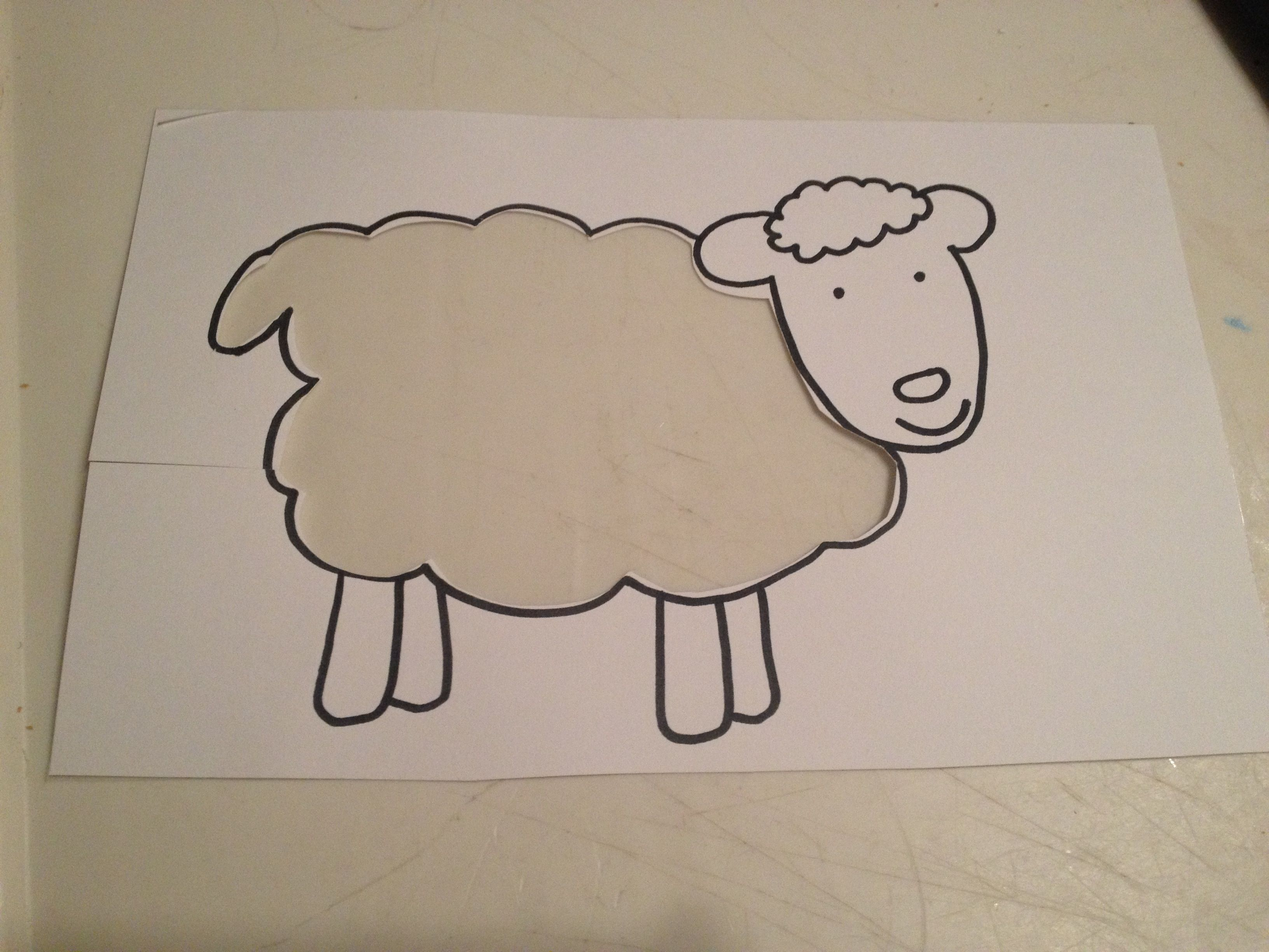 Line Drawing Of Sheep Face : Sticky sheep this craft was inspired in part by two