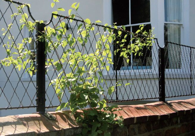 Scallop Wall Top Trellis And Wall Top Post In Black From Garden Requisites.