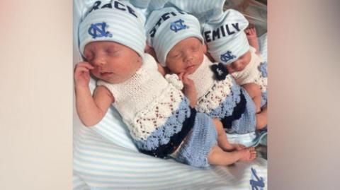 Parents of Rare Identical Triplets Tell Them Apart by Toenail Color