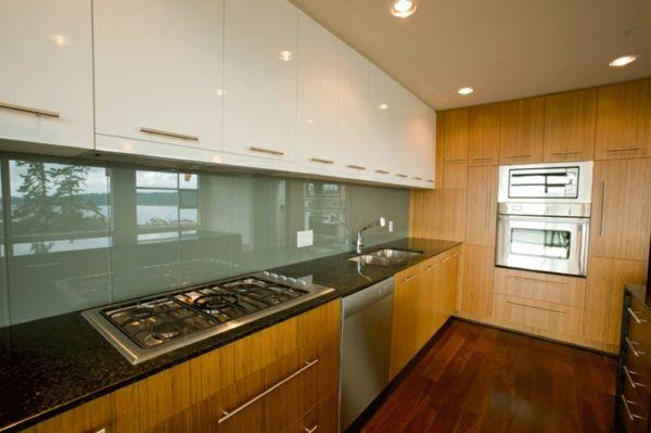 glas küchenrückwand fliesenspiegel glas | küche | Pinterest