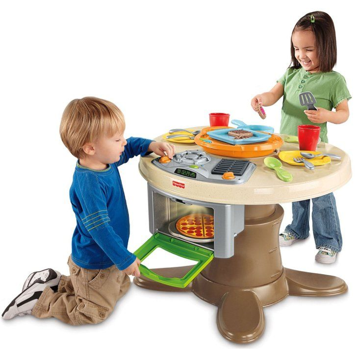For 2-Year-Olds: Fisher-Price Servin\' Surprises Kitchen & Table