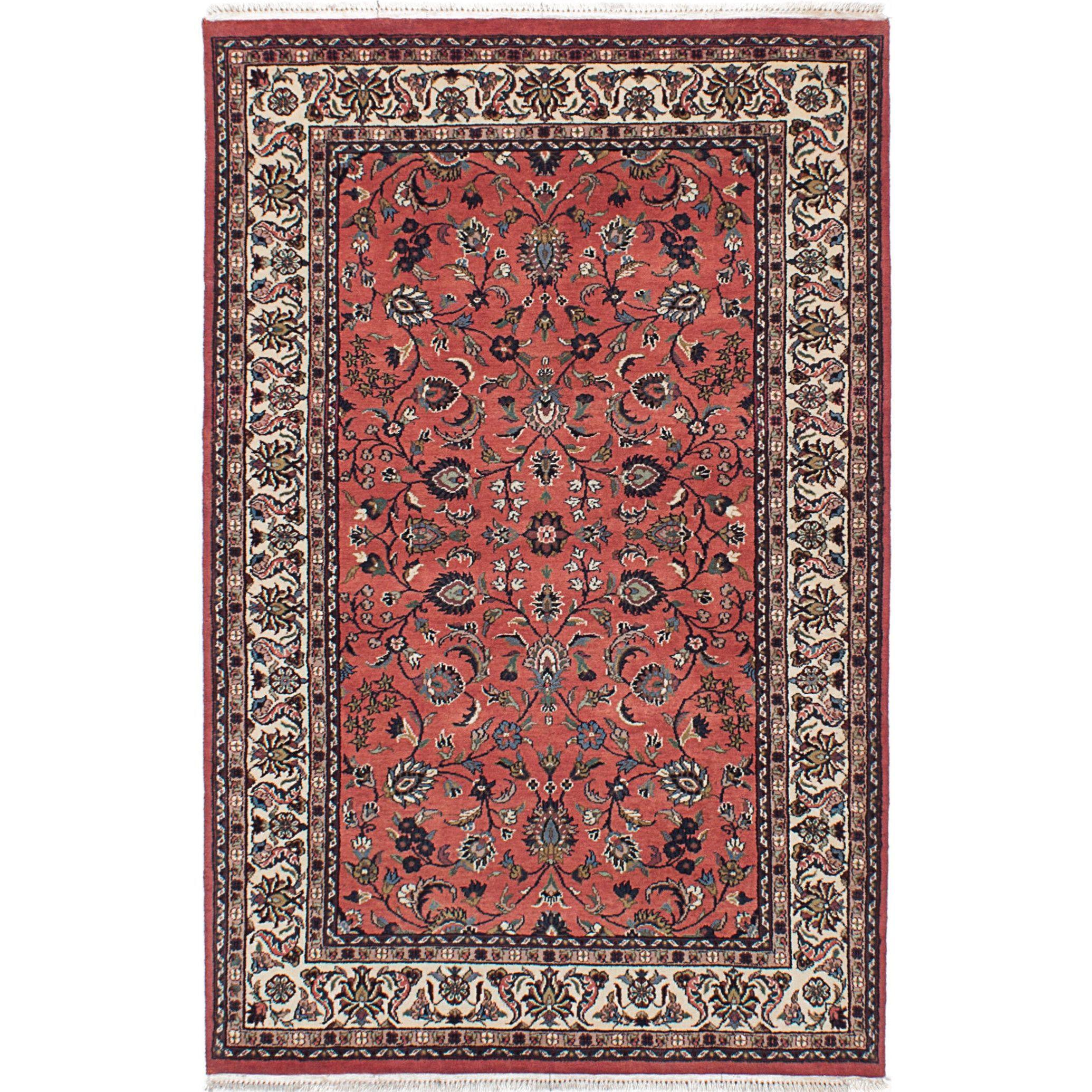 Ecarpetgallery Hand Knotted Royal Kashan Pink Wool Rug 4 0 X 6