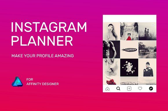 Instagram Planner Affinity Designer By Julia Revitt Photography On Creativemarket Instagram Planner Social Media Graphics Social Media Template