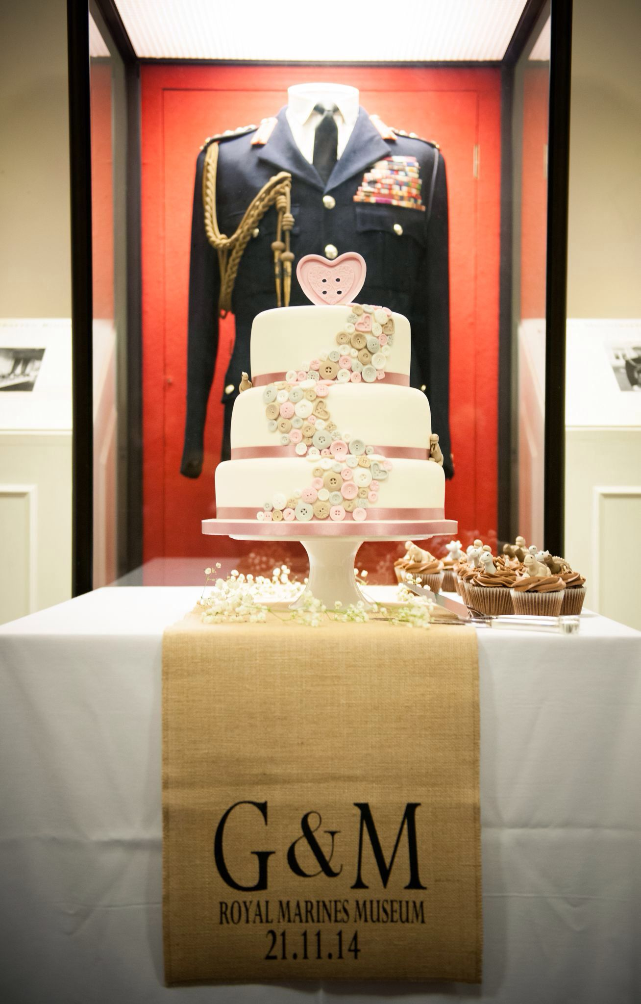Hearts And Ons Wedding Cake