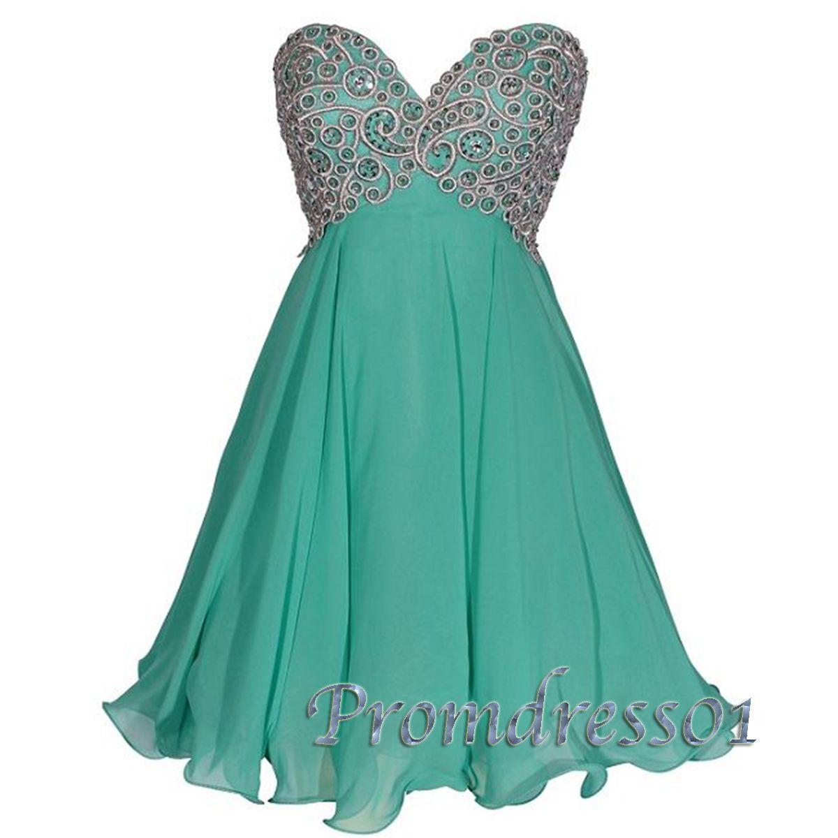2015 Cute Modest Sweetheart Green Short Prom Dress Ball Gown Homecoming Cute Dress For Tens Green Homecoming Dresses Cute Prom Dresses Sweetheart Long Dress [ 1200 x 1200 Pixel ]