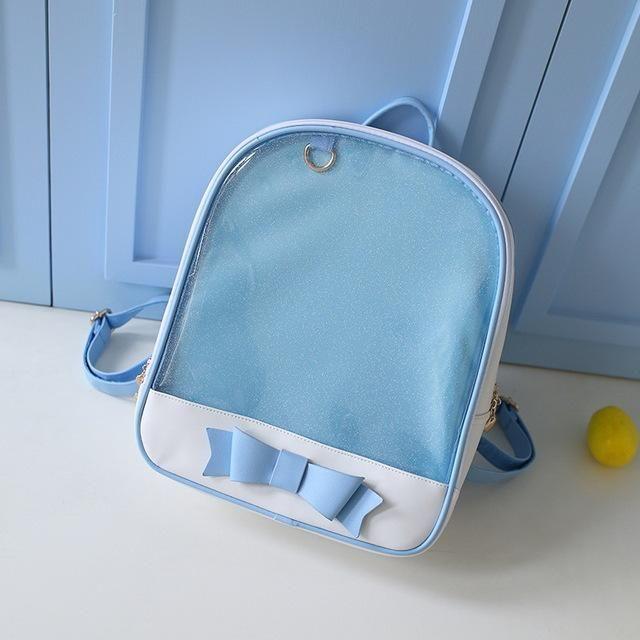 Msmo Cute Clear Transparent Bow Backpack Ita Bag Harajuku School Bags For Teenage  Girls Rucksack Kids Kawaii Backpack Itabag 2346ebef466c