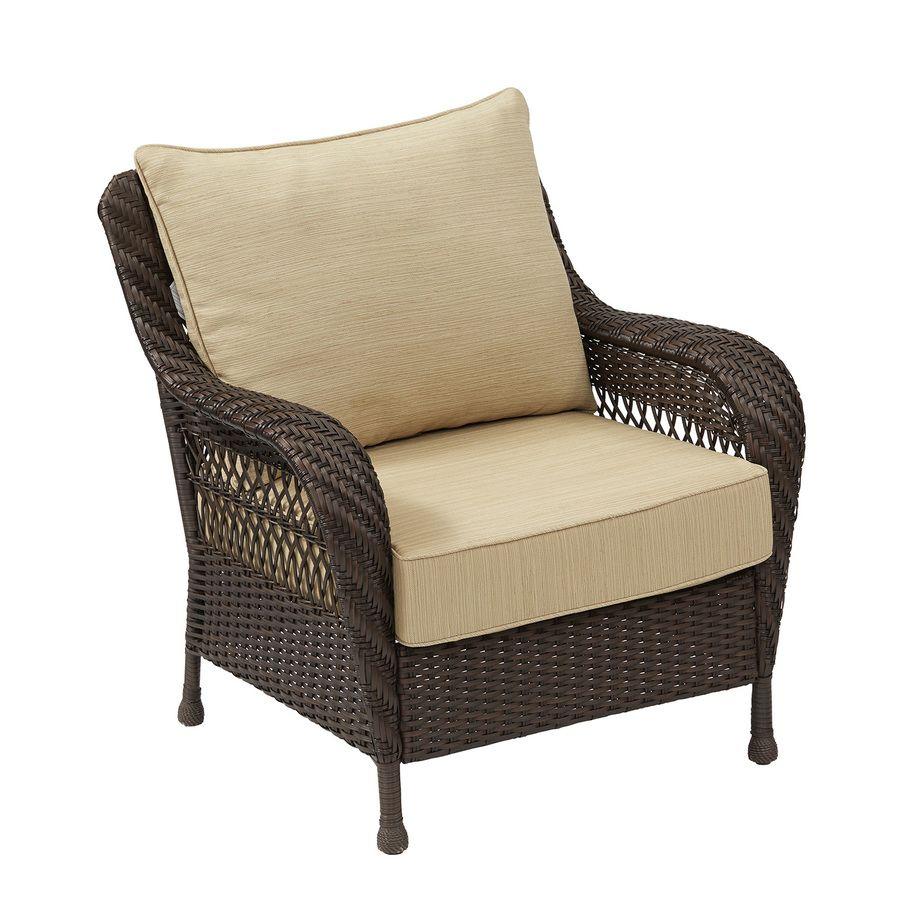 Miraculous Shop Garden Treasures Glenlee Textured Brown Steel Strap Theyellowbook Wood Chair Design Ideas Theyellowbookinfo