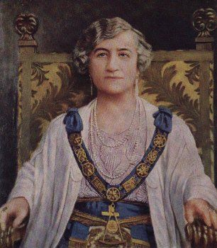 Grand Master M. W. Bro. Adelaide D. Litten, Initiated In Lodge Emulation No. 2 on July 9th 1909, remained in office until 1938 - http://www.brad.ac.uk/webofhiram/?section=order_women_freemasons&page=traditional_history.html