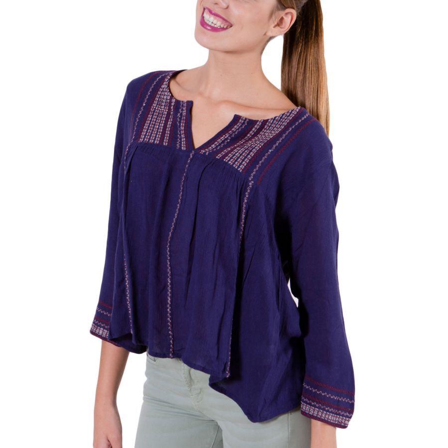b30fc5050788 ATTRATTIVO Γυναικείο μώβ έθνικ πουκάμισο καφτάνι