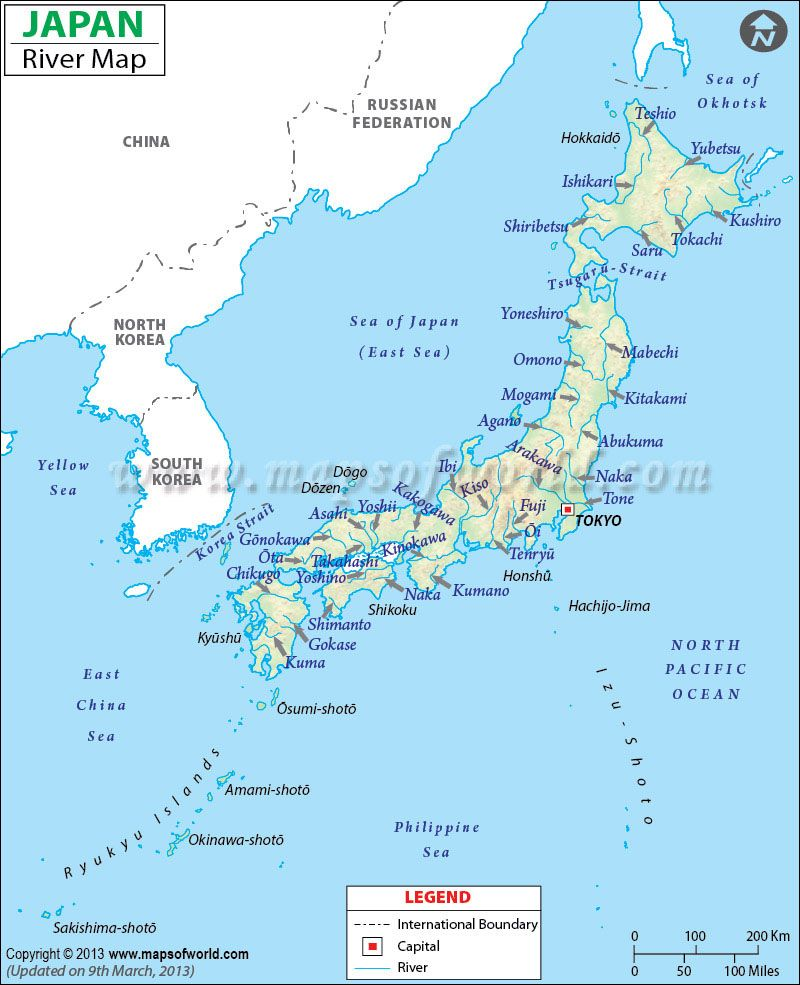 Japan River Map rivers in the world Pinterest Rivers Japan