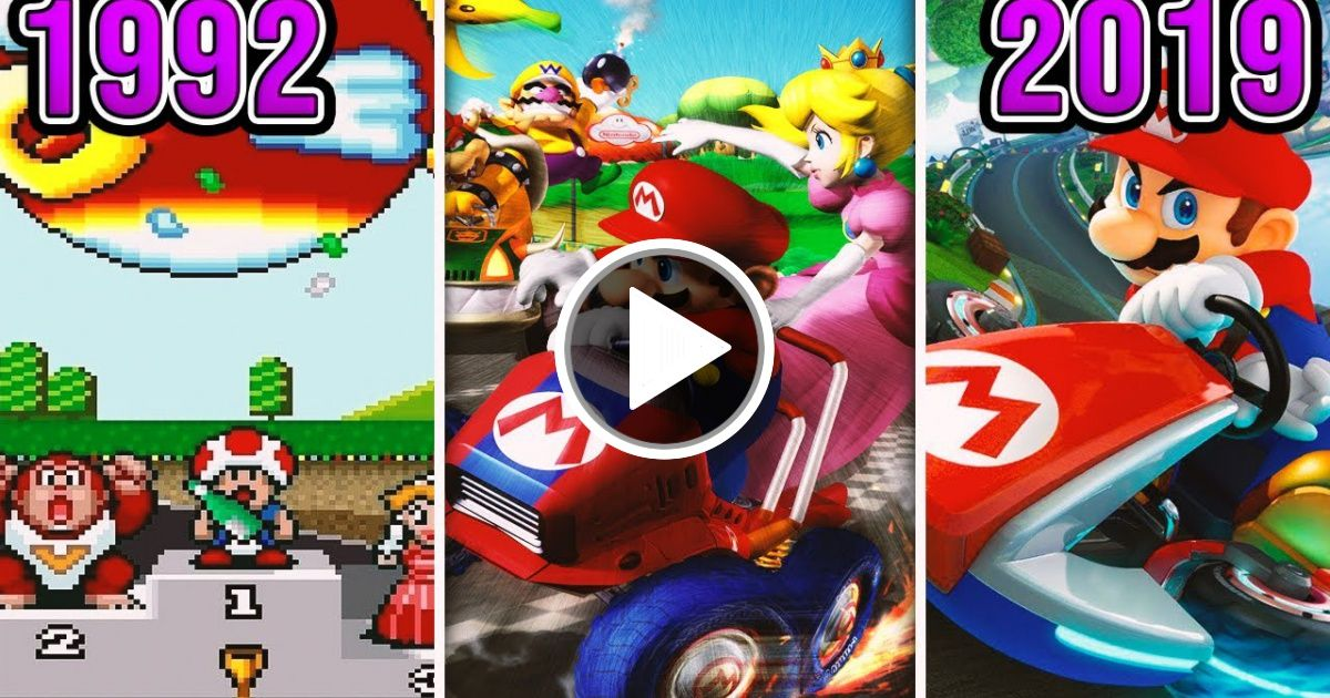 The Evolution Of Super Mario Kart Games 1992 2019 Viral Chop