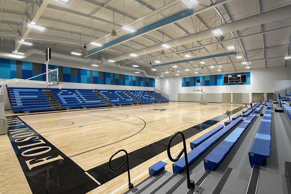 Folsom lake college gym school interior building design