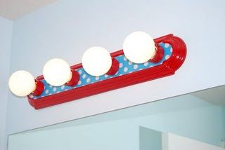 Photo of I have never thought about painting a light fixture like this!  Cute for the kid…