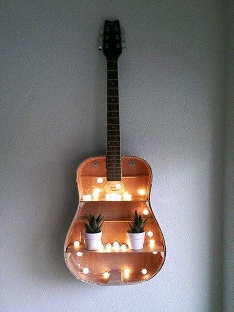 astonishing repurposed guitar ideas crafts diy easy stuff diy projects for bedroom diy. Black Bedroom Furniture Sets. Home Design Ideas