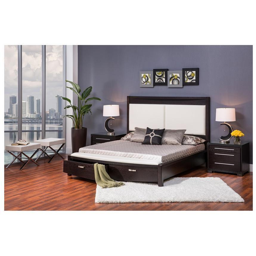 Lindsey King Storage Bed King Storage Bed Storage Bed White Upholstered Headboard
