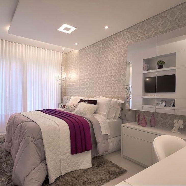 Quarto feminino 50 ideias de decoraç u00e3o para voc u00ea se inspirar Casa Quartos decorados