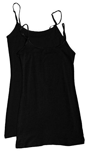 L, 4 Black 4 Pack Active Basic Womens Basic Tank Tops