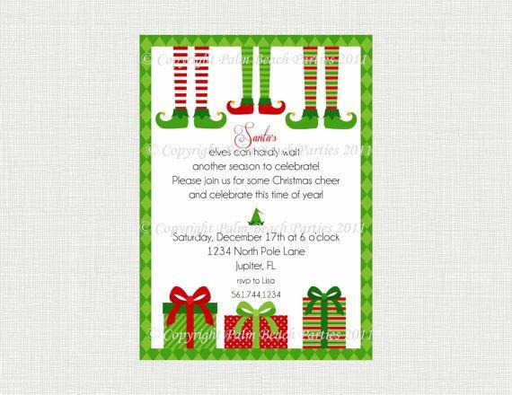 Invite idea Pajama party! Pinterest Christmas elf, Christmas