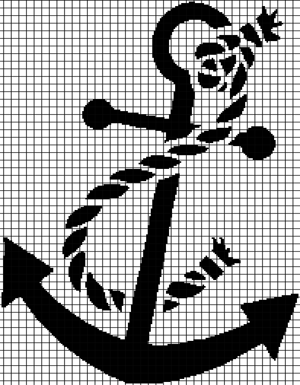 ANCHOR Graphghan Pattern