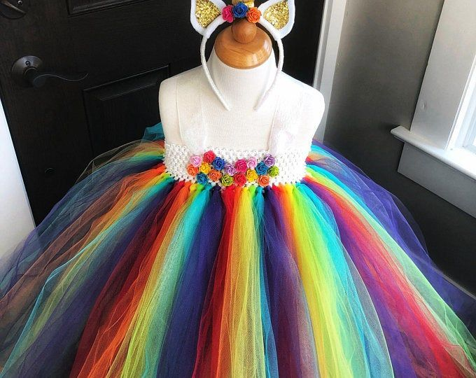 Candy costume - rainbow tutu -lollipop halloween costume - girls dress up - party dress -candy land dress -costumes for girls -girls costume