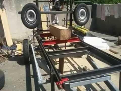 scierie mobile homemade par step air bois et outils. Black Bedroom Furniture Sets. Home Design Ideas