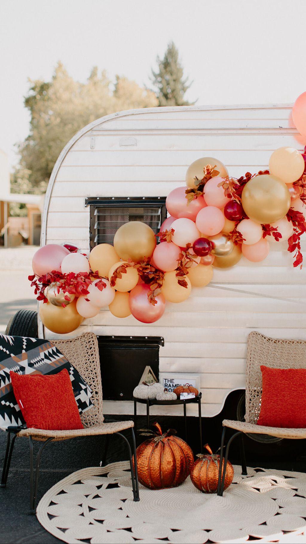 Fall balloon garland, Friendsgiving balloons, thanksgiving ...