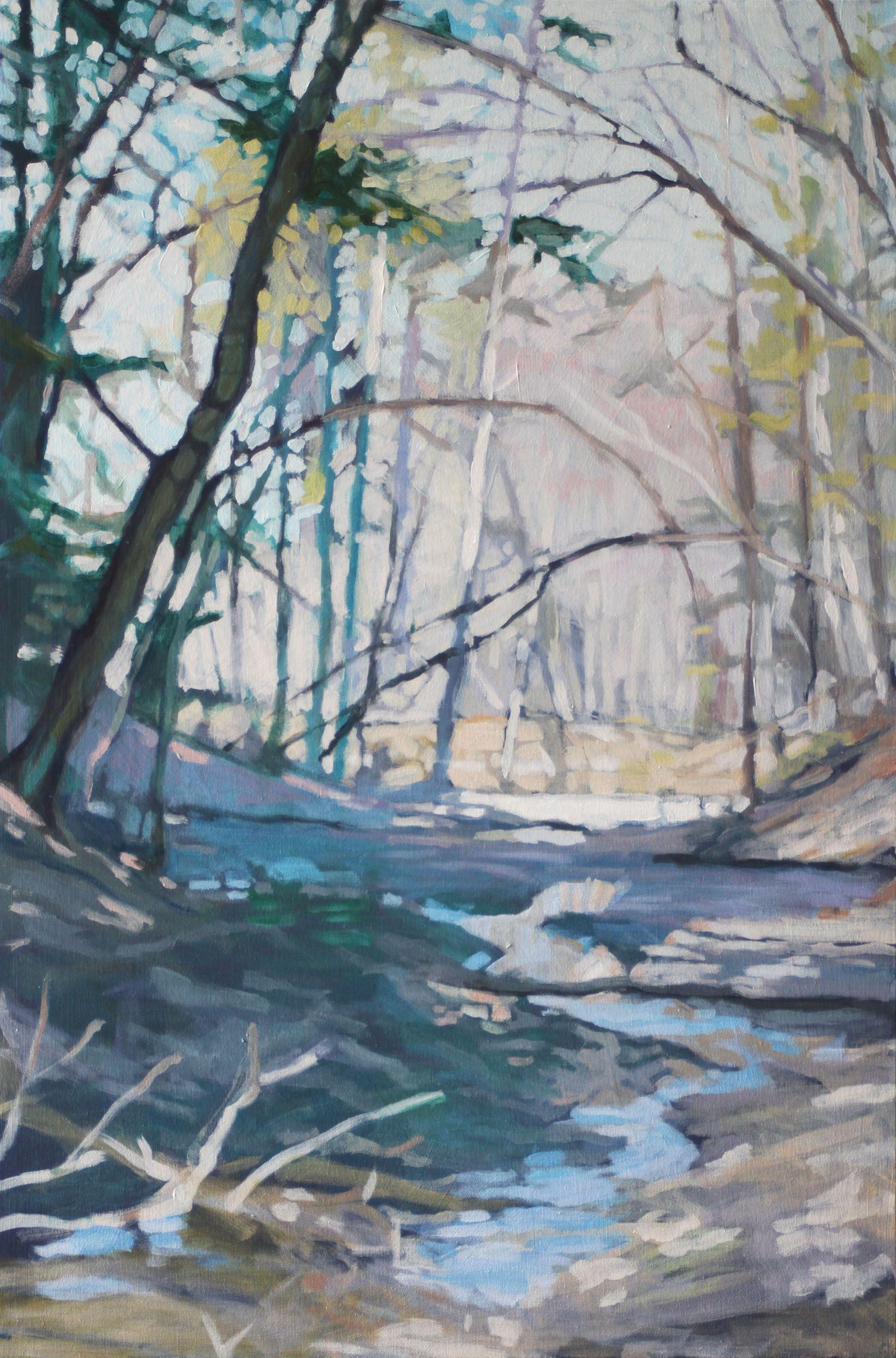 Liz Hoag In 2020 Forest Painting Maine Art Landscape Art