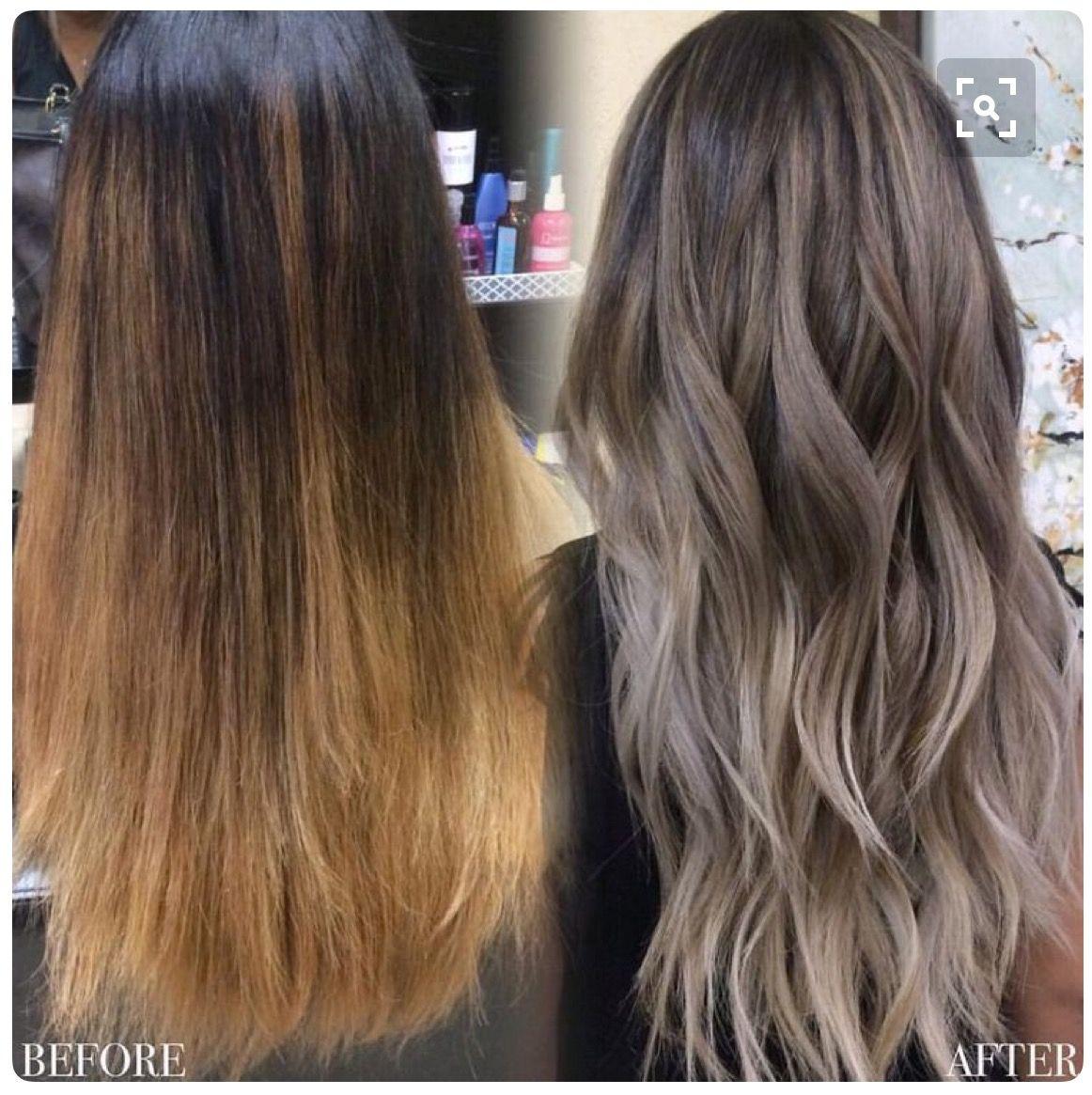 Color Correction Ash Hair Color Hair Styles Balayage Hair