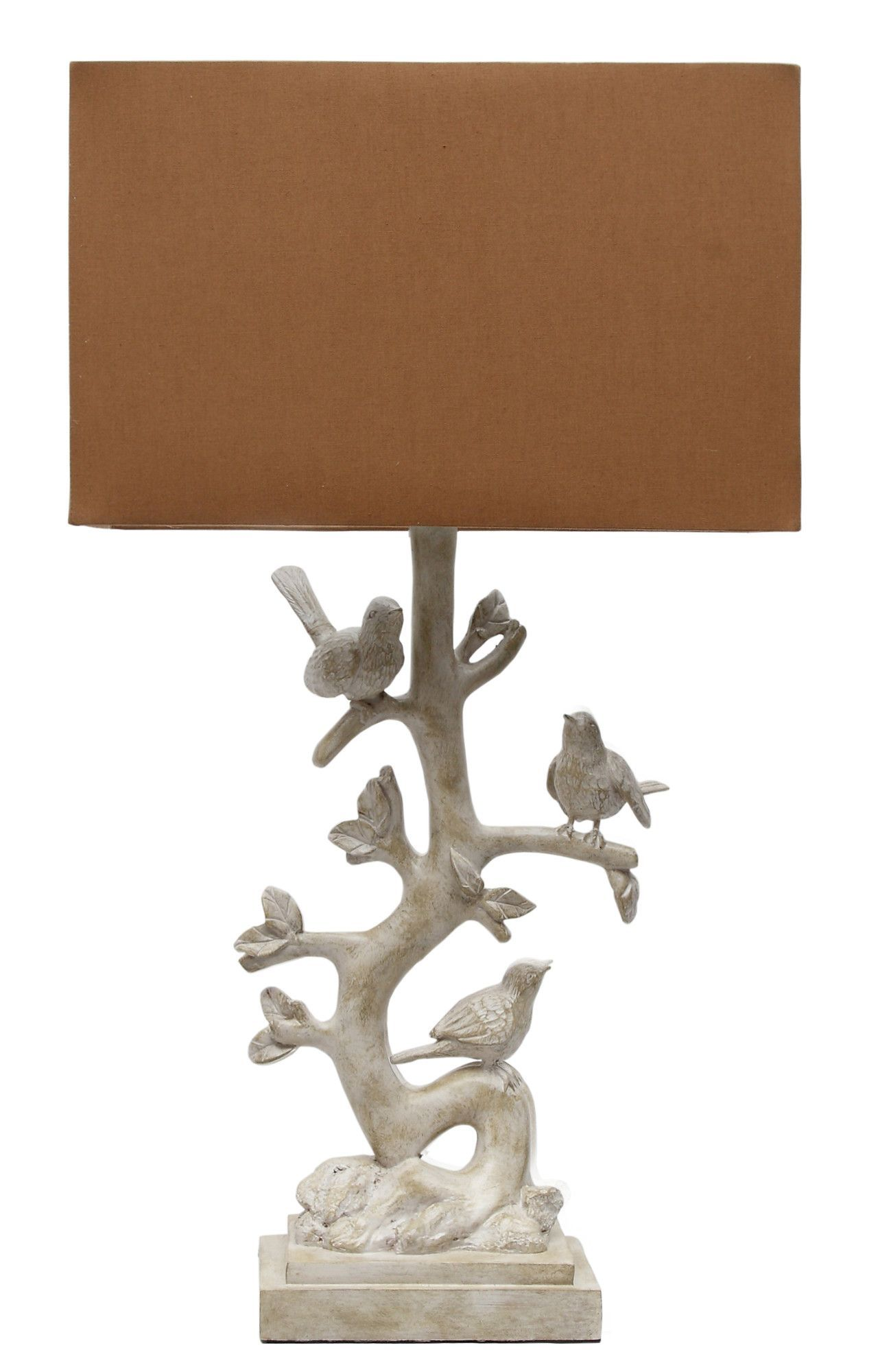 Bird Branch 27 H Table Lamp With Rectangular Shade Lampshades