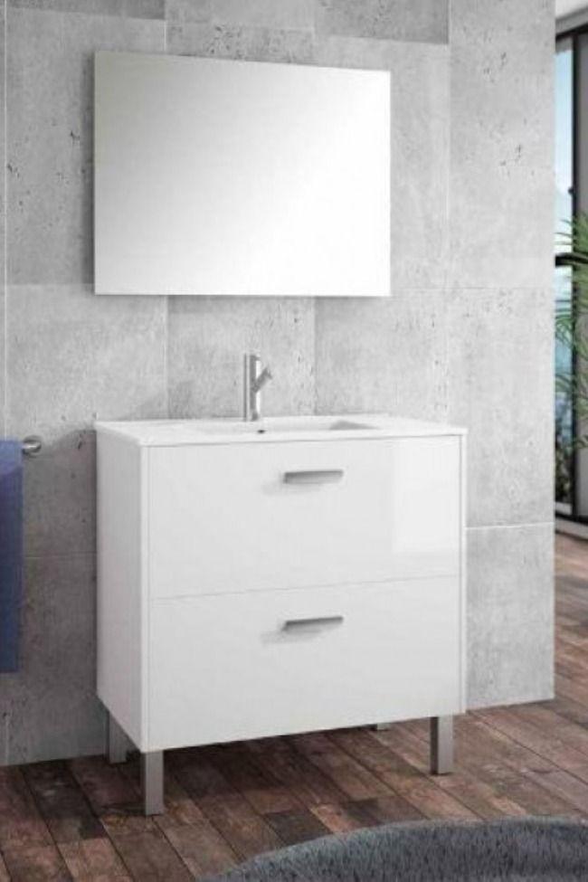 Conjunto Mueble + Lavabo Salgar Almagro 60 cm Blanco ...