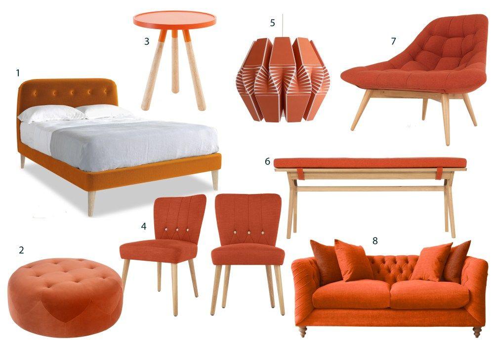 Burnt Orange Furniture   Orange furniture, Orange home ...