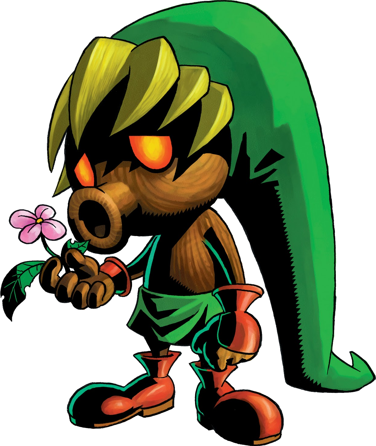 Deku Link Is A Character From The Legend Of Zelda Majora S Mask It Is The Form Link Takes Upon Wearing The Zelda Tattoo Deku Mask Legend Of Zelda Characters