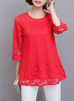 948d40f829522f Solid Elegant Cotton High Neckline Long Sleeve Blouses - Floryday   floryday .com