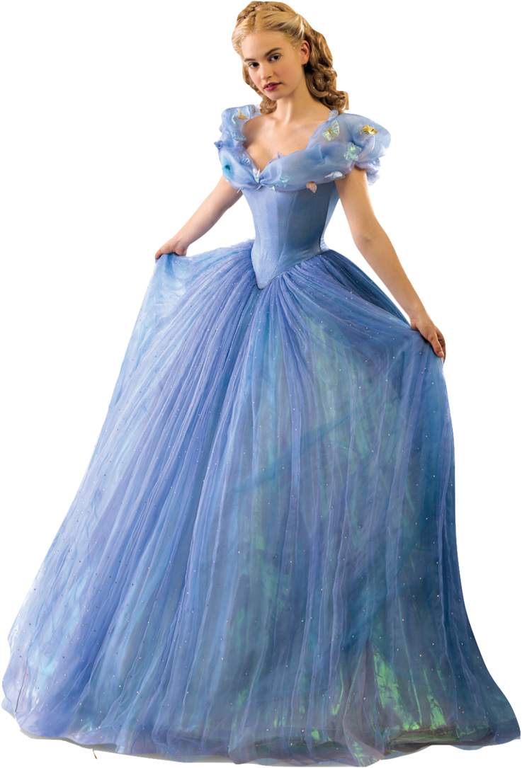 Lily James as Cinderella-Full Body 2 PNG by nickelbackloverxoxox on ...