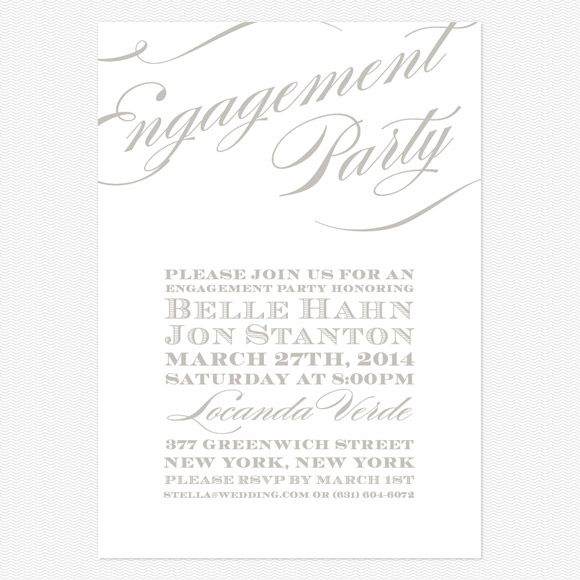 Cheri Engagement Party Invitations wwwlovevsdesign Gowns
